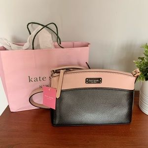 Kate Spade Jeanne crossbody pink and black purse